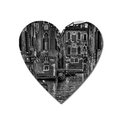 Venice Italy Gondola Boat Canal Heart Magnet by Celenk