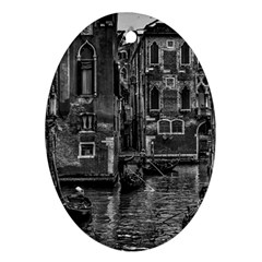 Venice Italy Gondola Boat Canal Oval Ornament (two Sides) by Celenk