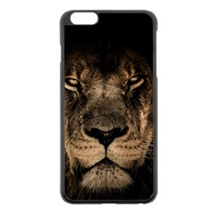 African Lion Mane Close Eyes Apple Iphone 6 Plus/6s Plus Black Enamel Case