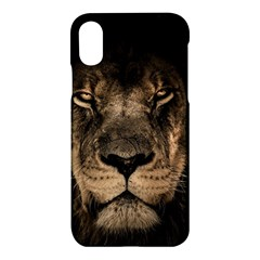 African Lion Mane Close Eyes Apple Iphone X Hardshell Case