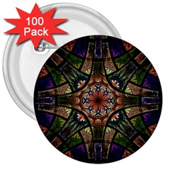 Fractal Detail Elements Pattern 3  Buttons (100 Pack)  by Celenk