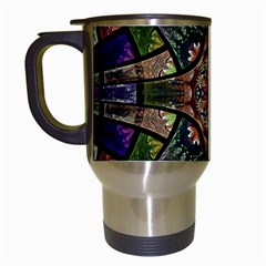 Fractal Detail Elements Pattern Travel Mugs (white) by Celenk