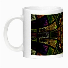 Fractal Detail Elements Pattern Night Luminous Mugs