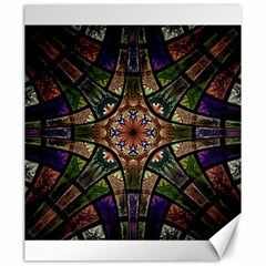 Fractal Detail Elements Pattern Canvas 20  X 24   by Celenk