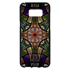 Fractal Detail Elements Pattern Samsung Galaxy S8 Plus Black Seamless Case by Celenk