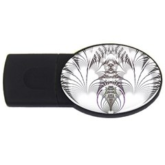 Fractal Delicate Intricate Usb Flash Drive Oval (2 Gb)