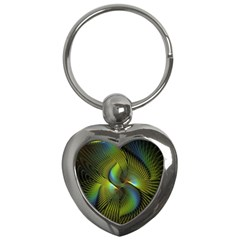 Fractal Abstract Design Fractal Art Key Chains (heart)  by Celenk