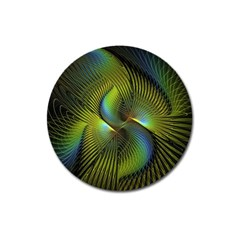 Fractal Abstract Design Fractal Art Magnet 3  (round)