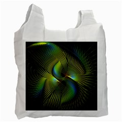 Fractal Abstract Design Fractal Art Recycle Bag (one Side) by Celenk