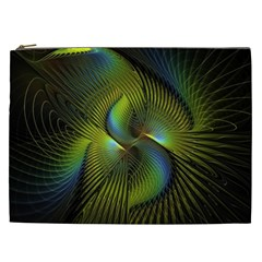 Fractal Abstract Design Fractal Art Cosmetic Bag (xxl)  by Celenk