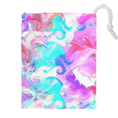 Background Art Abstract Watercolor Drawstring Pouches (xxl) by Celenk