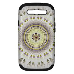 Mandala Fractal Decorative Samsung Galaxy S Iii Hardshell Case (pc+silicone) by Celenk
