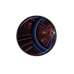 Fractal Circle Pattern Curve Hat Clip Ball Marker