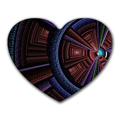 Fractal Circle Pattern Curve Heart Mousepads by Celenk