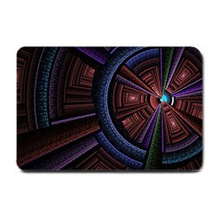 Fractal Circle Pattern Curve Small Doormat  by Celenk