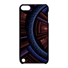 Fractal Circle Pattern Curve Apple Ipod Touch 5 Hardshell Case With Stand by Celenk