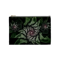 Fractal Flowers Floral Fractal Art Cosmetic Bag (medium)