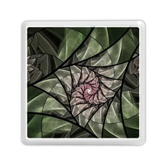 Fractal Flowers Floral Fractal Art Memory Card Reader (square)  by Celenk