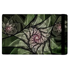 Fractal Flowers Floral Fractal Art Apple Ipad Pro 12 9   Flip Case by Celenk