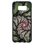 Fractal Flowers Floral Fractal Art Samsung Galaxy S8 Plus Black Seamless Case Front
