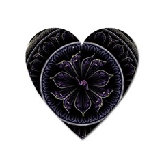 Fractal Abstract Purple Majesty Heart Magnet