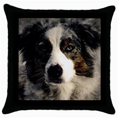 Dog Pet Art Abstract Vintage Throw Pillow Case (black) by Celenk