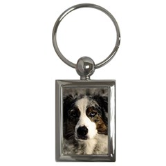 Dog Pet Art Abstract Vintage Key Chains (rectangle)