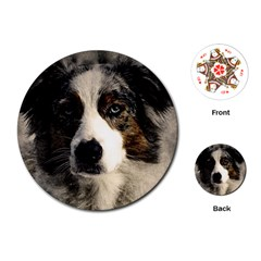 Dog Pet Art Abstract Vintage Playing Cards (round)  by Celenk