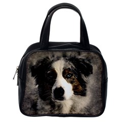 Dog Pet Art Abstract Vintage Classic Handbags (one Side)