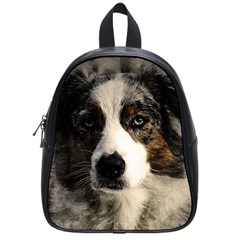 Dog Pet Art Abstract Vintage School Bag (small)