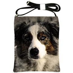 Dog Pet Art Abstract Vintage Shoulder Sling Bags by Celenk