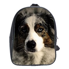 Dog Pet Art Abstract Vintage School Bag (xl)