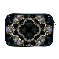 Fractal Aqua Silver Pattern Apple Macbook Pro 17  Zipper Case