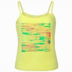 Background Art Abstract Watercolor Yellow Spaghetti Tank
