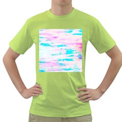 Background Art Abstract Watercolor Green T Shirt