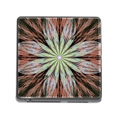 Fractal Floral Fantasy Flower Memory Card Reader (square)