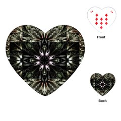 Fractal Design Pattern Texture Playing Cards (heart)