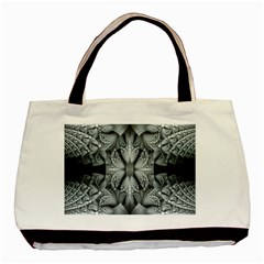 Fractal Blue Lace Texture Pattern Basic Tote Bag (two Sides) by Celenk