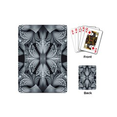 Fractal Blue Lace Texture Pattern Playing Cards (mini)