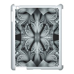 Fractal Blue Lace Texture Pattern Apple Ipad 3/4 Case (white) by Celenk