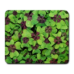 Luck Klee Lucky Clover Vierblattrig Large Mousepads by Celenk