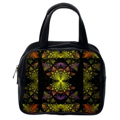 Fractal Multi Color Geometry Classic Handbags (one Side) by Celenk