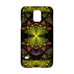 Fractal Multi Color Geometry Samsung Galaxy S5 Hardshell Case  by Celenk