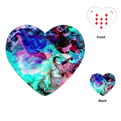 Background Art Abstract Watercolor Playing Cards (heart)  by Celenk