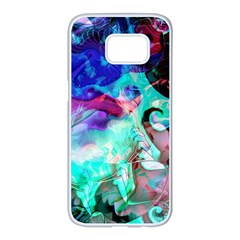Background Art Abstract Watercolor Samsung Galaxy S7 Edge White Seamless Case