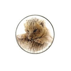 Lion Cub Close Cute Eyes Lookout Hat Clip Ball Marker