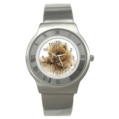 Lion Cub Close Cute Eyes Lookout Stainless Steel Watch by Celenk