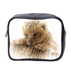 Lion Cub Close Cute Eyes Lookout Mini Toiletries Bag 2 Side