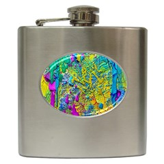 Background Art Abstract Watercolor Hip Flask (6 Oz) by Celenk
