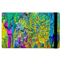 Background Art Abstract Watercolor Apple Ipad 2 Flip Case